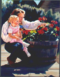 artist and child