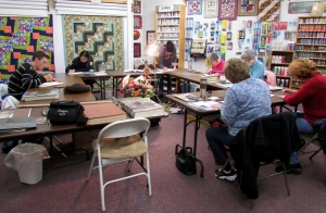 The Fortuna Drawing Class works on individual projects while enjoying the company of each other.