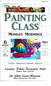 Painting Class offered through Fortuna Park & Rec.  Humboldt County, California