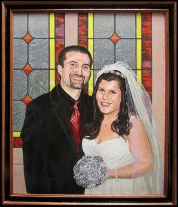 A wedding portrait for Adam and Barbara