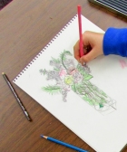 "An ""almost twelve"" year old creates some stunning drawings in the Colored Pencil Drawing Class"