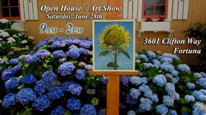 Open House and Art Show in Fortuna, California
